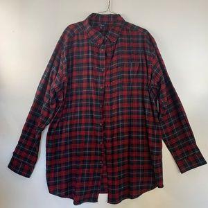 Crofts Barrow Long Sleeve Button Flannel Shirt